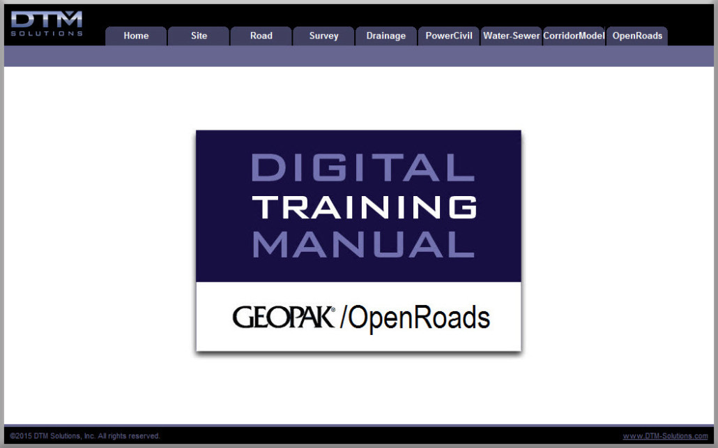 Training Manuals  Geopak And Openroads Software Training  Dtm
