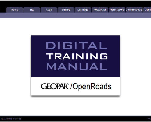 Training Manuals GEOPAK and OpenRoads Software Training DTM – Training Manual Cover Page